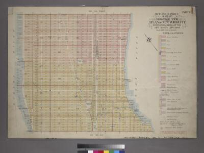 Outline & Index Map of Volume Two, Atlas of New York City, 14th Street to 59th Street.