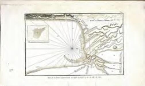 Plan de la partie septentrionale du golfe arabique et de la ville de Suès