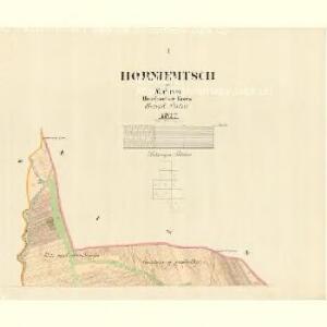 Horniemtsch - m0805-1-001 - Kaiserpflichtexemplar der Landkarten des stabilen Katasters