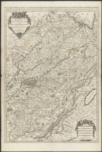 La Franche Comté divisée en trois grands balliages : sçavoir d'Amont, d'Aval, et du Milieu ou de Dole subdivisés en leurs balliages, et iuridictions subalternes