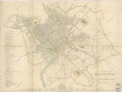 Plan of modern Rome