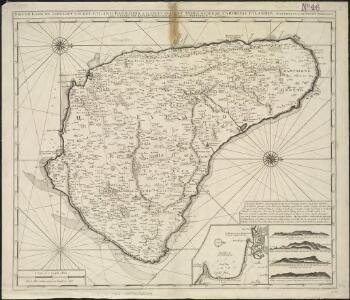 Nieuwe land en zeekaart van het eyland Barbados geleegen in West India onder de Caribesse Eylande