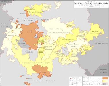 Herzogtum Sachsen-Coburg und Gotha 1834 in der thüringischen Staatenwelt