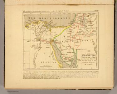 Voyage des Israelites depuis leur sortie d'Egypte.