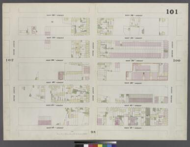Plate 101: Map bounded by West 52nd Street, Eighth Avenue, West 47th Street, Tenth Avenue
