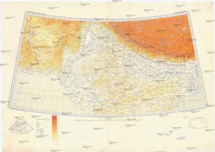 Karte von Europa und Westasien