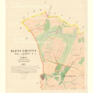 Klein Lhotta (Mala Lhota) - m1521-2-001 - Kaiserpflichtexemplar der Landkarten des stabilen Katasters