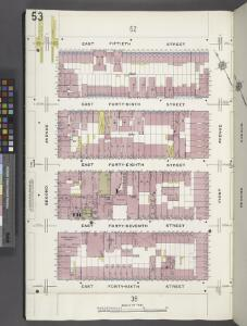 Manhattan, V. 4, Plate No. 53 [Map bounded by E. 50th St., 1st Ave., E. 46th St., 2nd Ave.]