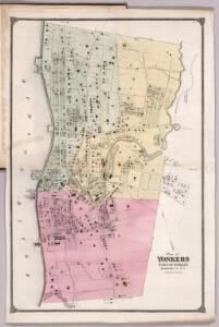 Plan of Yonkers, Town of Yonkers, Westchester County, New York.