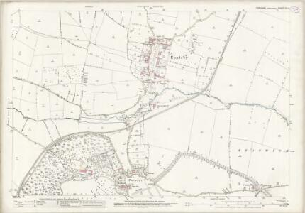Yorkshire XIV.13 (includes: Caldwell; Eppleby; Forcett With Carkin; Stanwick St John) - 25 Inch Map