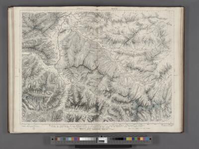 Partie des Grisons du haut Rheinthal et ses frontieres au Gouvernement d' Arlberg et Tyrol.