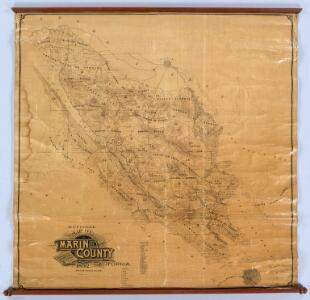 Official Map Of Marin County, California.