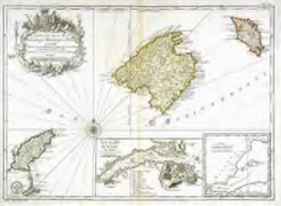 Carte des isles de Maiorque Minorque et Yvice