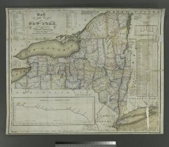 Map of the State of New York: with the latest improvements / by Wm. Hooker.