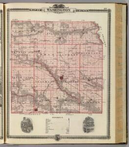 Map of Washington County, State of Iowa.