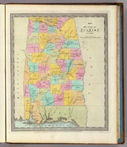 Map of the State of Alabama.