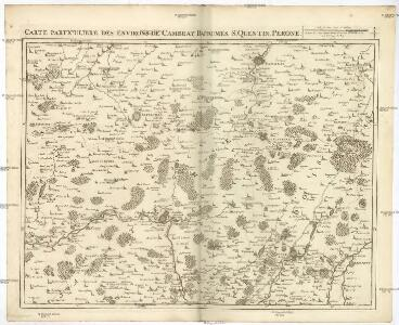 Carte particuliere des environs de Cambray, Bappaumes, St. Quentin, Perone