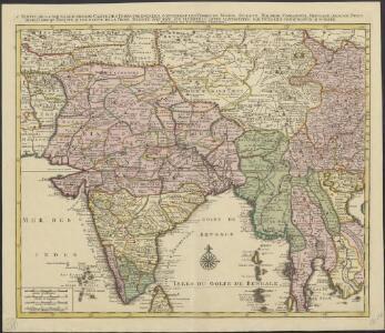 1 Partie de la nouvelle grande carte des Indes Orientales, contenant les terres du Mogol, Surate, Malabar, Cormandel, Bengale, Aracan, Pegu, Siam, Camboje, Tonquin & une partie de la Chine