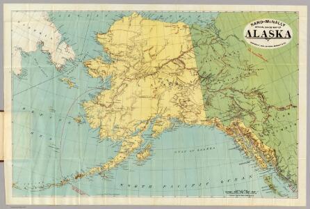 Rand-McNally Official 24x36 Map Of Alaska.