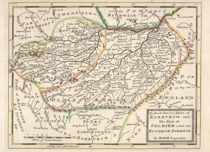 The North Part of ye Shire of Roxburgh and the Shire of Selkirk called also Etterick Forrest / by H. Moll.