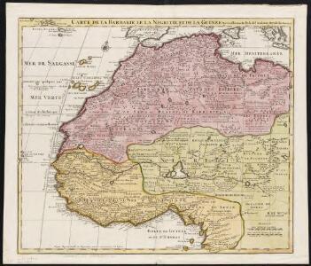 Carte de la Barbarie [d]e la Nigritie et de la Guinée