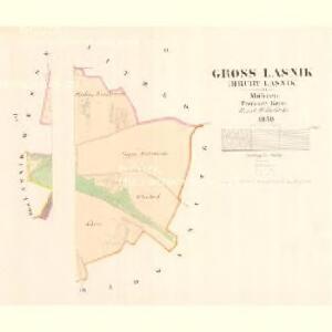 Gross Lasnik (Hruby Lasnik) - m1478-1-002 - Kaiserpflichtexemplar der Landkarten des stabilen Katasters