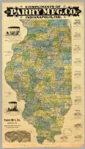 Map of Illinois.