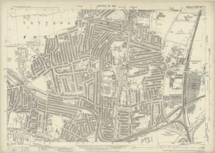Essex (New Series 1913-) n LXXVII.7 (includes: Tottenham) - 25 Inch Map