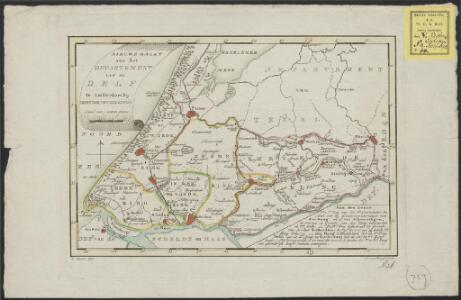 Nieuwe kaart van het departement van de Delf