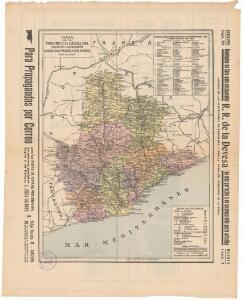 Mapa de la provincia de Barcelona