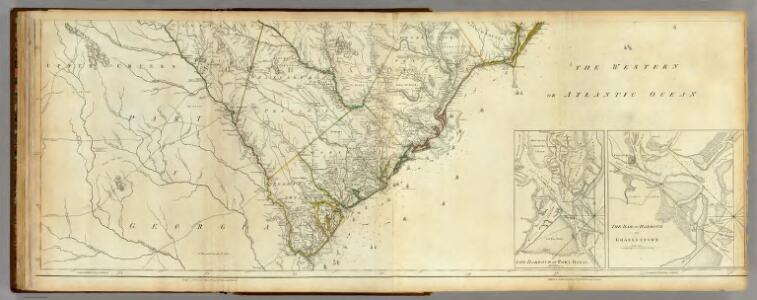 Map Of North And South Carolina With Their Indian Frontiers. (Southern Section)