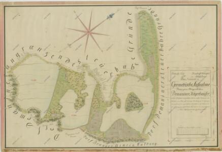 Geometrický plán pozemků domanínské hájovny, přilehlých činžovních pozemků a rybníků