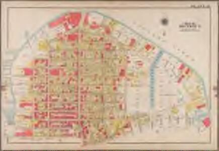 Plate 12: [Bounded by Commercial Street, Ash Street, Box Street, Paidge Avenue (Newtown Creek), Sutton Street, Calyer Street, Manhattan Avenue, Noble Street, West Street (East River Piers) and Commercial Street.]; Atlas of the borough of Brooklyn, city of New York: from actual surveys and official plans by George W. and Walter S. Bromley.