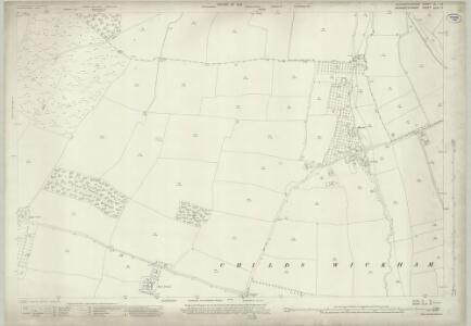 Gloucestershire VI.12 (includes: Childs Wickham; Hinton on the Green; Wickhamford) - 25 Inch Map