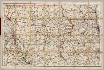 (Iowa, Illinois) Railroad Map of the United States.
