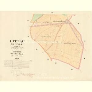Littau (Litowel) - m1596-1-005 - Kaiserpflichtexemplar der Landkarten des stabilen Katasters