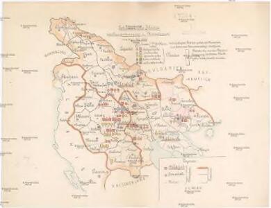 Schematische Skizze zur Bandenbewegung in Macedonien