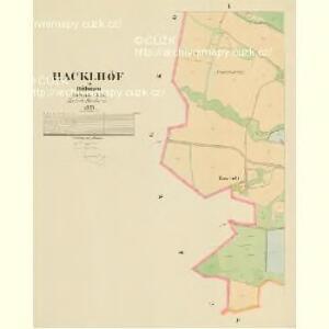 Hacklhöf - c1759-1-001 - Kaiserpflichtexemplar der Landkarten des stabilen Katasters