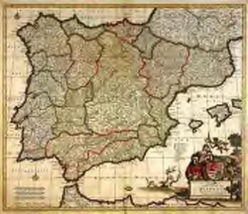 Accuratissima totius regni Hispaniæ Portugalliæ[que] tabula et typus novissimus