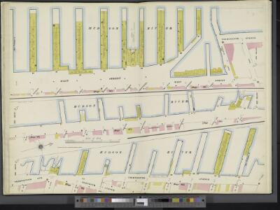 Manhattan, V. 3, Double Page Plate [Map bounded by West St., Hudson River, 13th Ave.]