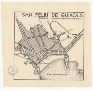San Feliu de Guixols: [plànol de la ciutat]