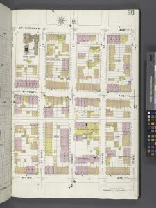 Brooklyn V. 9, Plate No. 50 [Map bounded by St.Nicholas Ave., Greene Ave., Irving Ave., Stockholm St.]