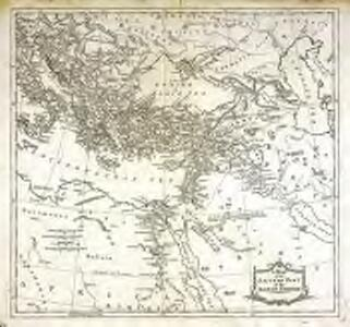 A map of the eastern part of the Roman empire