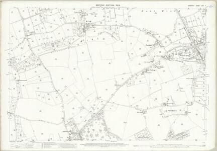 Somerset LXXII.7 (includes: Aller; Curry Rivel; Drayton; Huish Episcopi; Langport) - 25 Inch Map