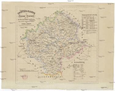 Special-Karte des Saazer Kreises