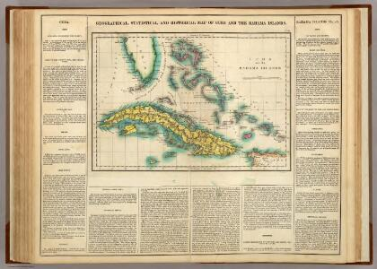 Map Of Cuba And The Bahama Islands.