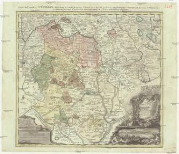Mappa geographica comitatvs Oettingensis in circulo Sueviceo siti