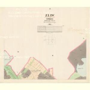 Zliw - c9281-1-002 - Kaiserpflichtexemplar der Landkarten des stabilen Katasters