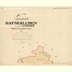 Hafnerluden - m1637-1-001 - Kaiserpflichtexemplar der Landkarten des stabilen Katasters