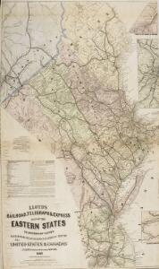 Lloyd's Railroad, Telegraph & Express Map of the Eastern States